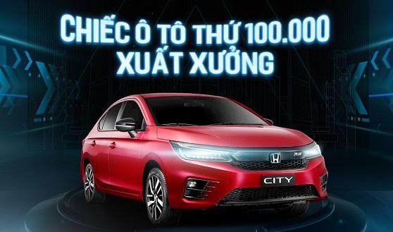 Honda Việt Nam chào mừng xuất xưởng chiếc ô tô thứ 100.000