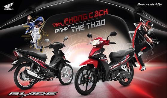 Honda Việt Nam giới thiệu phiên bản mới Blade 110cc  - Tem phong cách, dáng thể thao -