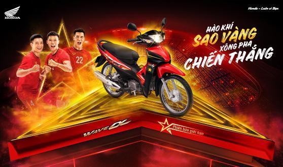 """Honda Việt Nam tự hào giới thiệu phiên bản giới hạn Wave Alpha 110cc  - """"Hào khí sao vàng, xông pha chiến thắng"""" -"""