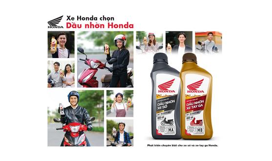 HÃY CHỌN NHỚT ĐÚNG: XE Honda CHỌN DẦU NHỚT Honda