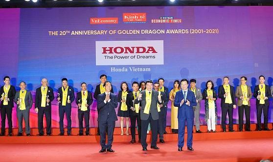 Honda Việt Nam nhận giải thưởng Rồng Vàng lần thứ 16