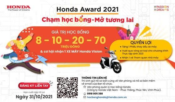 Honda Việt Nam khởi động Học bổng Honda dành cho sinh viên Khối khoa học công nghệ và khối ngành khác