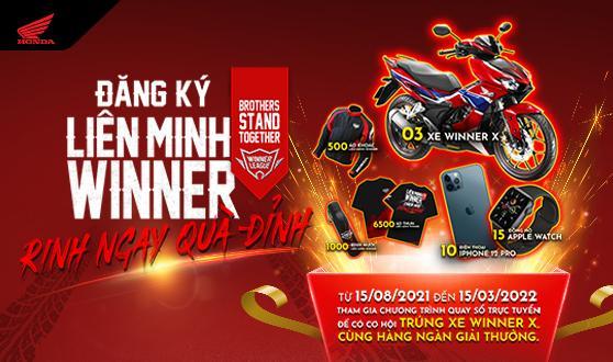 """Honda Việt Nam triển khai chương trình khuyến mại dành cho khách hàng gia nhập Liên minh Winner tại ứng dụng My Honda+ - """"Gia nhập Liên minh, Ring ngay quà đỉnh"""" -"""