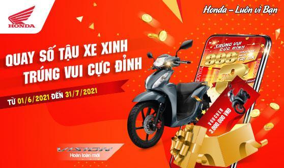 """CẬP NHẬT KẾT QUẢ QUAY SỐ TRỰC TUYẾN  CHƯƠNG TRÌNH VÒNG QUAY MAY MẮN """"TRÚNG VUI CỰC ĐỈNH""""  TRÊN ỨNG DỤNG My Honda+ TỪ 01/6/2021 ĐẾN 31/7/2021 (Thời gian cập nhật từ 22/7/2021 đến 31/7/2021)"""