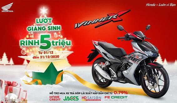 """Honda Việt Nam triển khai chương trình ưu đãi cho khách hàng mua xe WINNER X - """"Lướt Giáng sinh, Rinh 5 triệu"""" -"""