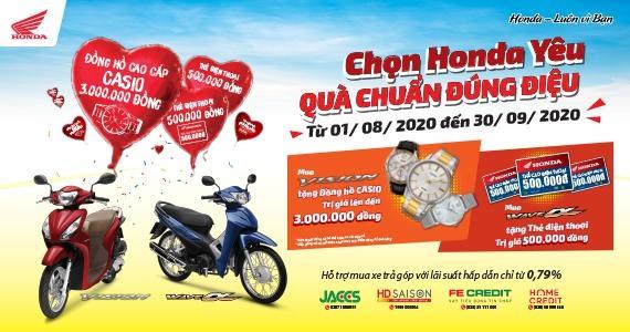 """Honda Việt Nam dành ưu đãi hấp dẫn mùa tựu trường cho khách hàng mua xe Wave Alpha 110cc & VISION - """"Chọn Honda yêu, Quà chuẩn đúng điệu"""" -"""