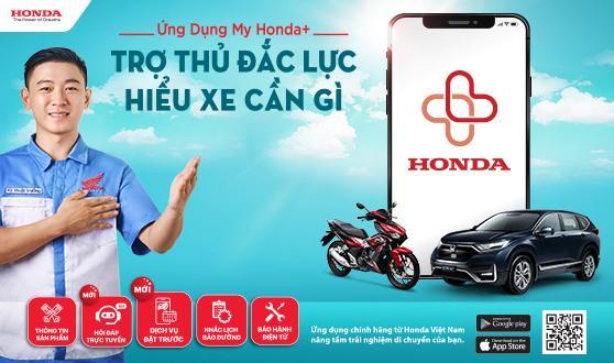 """Honda Việt Nam lần đầu tiên triển khai chương trình khuyến mại dành cho người dùng cài đặt ứng dụng My Honda+  - """"Cài App ngay, nhận quà liền tay"""" -"""