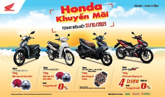 Honda Việt Nam dành ưu đãi hấp dẫn cho khách hàng mua xe  Wave Alpha, VISION, Air Blade & WINNER X