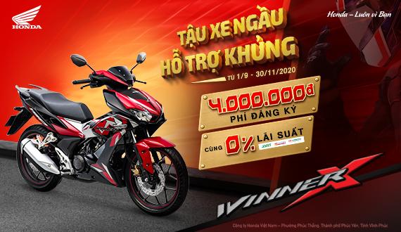 """Honda Việt Nam triển khai chương trình ưu đãi hấp dẫn nhất năm  cho khách hàng mua xe WINNER X - """"Tậu xe ngầu – Hỗ trợ khủng"""" -"""