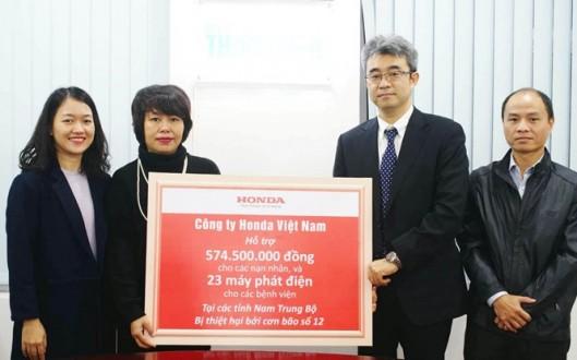 Honda Việt Nam chia sẻ khó khăn cùng nhân dân các tỉnh Nam Trung Bộ gánh chịu thiệt hại do đợt bão Damrey tháng 11/2017